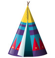 traditional teepee shelter on white background vector image