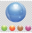 Transparent Glass Ball vector image