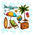 Travel Sketch Set vector image vector image