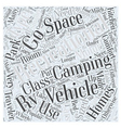 Types of Recreational Vehicles Word Cloud Concept vector image vector image