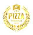 Vintage pizza gold logo stamp vector image vector image