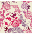 Vintage swallows Pattern vector image
