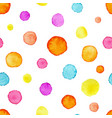 watercolor circles pattern hand drawn colorful vector image