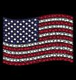 waving american flag stylization of thumb up icons vector image vector image