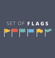 waving flags waves vector image vector image