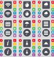 Wi-Fi Apple Cloud Calendar Umbrella Apps vector image vector image