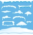 winter snow caps collection vector image