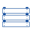 wooden basket flat in blue silhouette vector image vector image