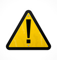 yellow danger sign vector image