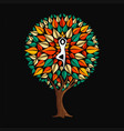 yoga concept with woman in tree pose vector image vector image