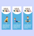 yoga kids flyers design with boys vector image vector image