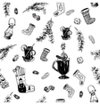 Christmas wine pattern vector image