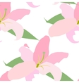 Lilly Flower Seamless Pattern vector image