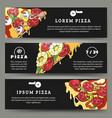 pizza flyers set vector image