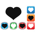 Love buttons set vector image