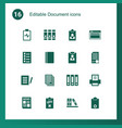 16 document icons vector image vector image