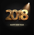 2018 new year count symbol with spotlights vector image vector image