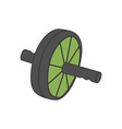ab wheel fitness equipment vector image vector image