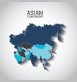 asian continent design vector image