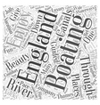 Boating in England Word Cloud Concept vector image vector image