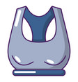 brassiere sport icon cartoon style vector image vector image