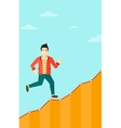 Businessman walking upstairs vector image vector image