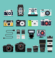 Camera flat icons vector image