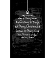 christmas monochromatic card vector image vector image