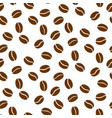 coffee beans seamless repeat simple vector image vector image