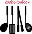 Cooks Toolbox vector image vector image