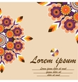 Cover exercise book with floral ornament mandala vector image