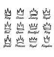 crown logo hand drawn graffiti sketch vector image