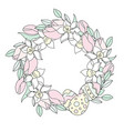 easter wreath great religious holy holiday cartoon vector image vector image