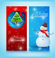 festive christmas vertical banners vector image
