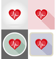 fitness flat icons 09 vector image