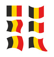 Flag of Belgium Set national flag of Belgian state vector image vector image