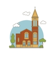 Flat Church vector image vector image