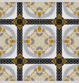 floral greek seamless pattern ornamental tribal vector image vector image