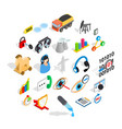 future icons set isometric style vector image vector image