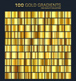 goldgolden gradientpatterntemplateset of vector image vector image