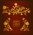 grapes elements vector image vector image