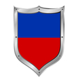 Haiti flag button vector image