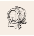 Hand Drawn Old Wine Barrel vector image vector image