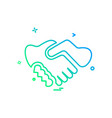 handshake icon design vector image