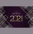happy new year 2021 luxury gold abstract card vector image