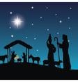 Joseph maria and jesus icon Merry Christmas vector image vector image
