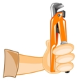 Key expanding in hand vector image vector image