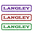 langley watermark stamp vector image vector image