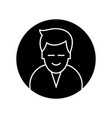 man round avatar icon sign vector image