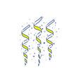 party serpentine icon vector image vector image